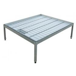 Kit mesa cultivo 1 x 2 m + soporte