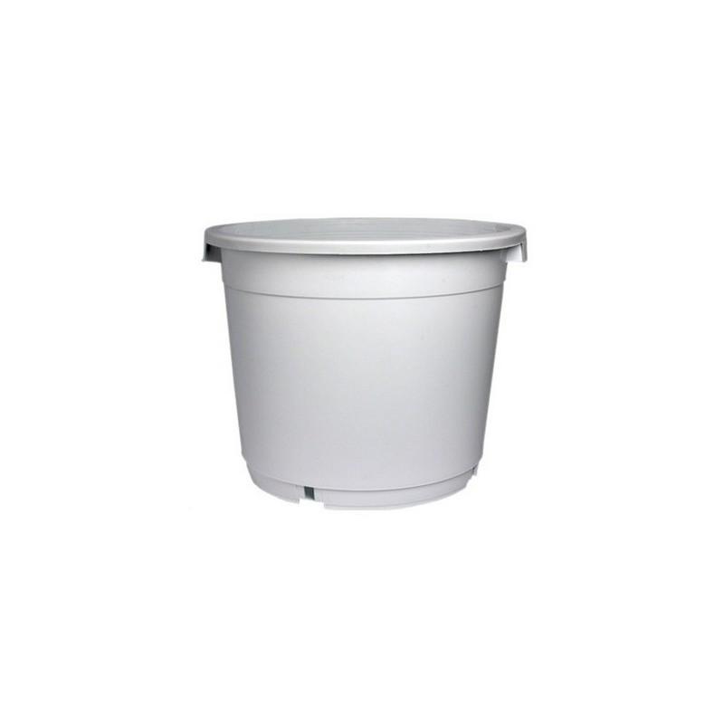 Maceta redonda blanca - 27L