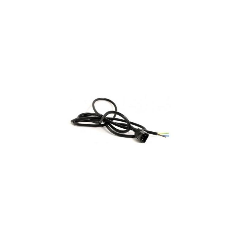 Cable 3x1.5mm clavija iec macho 1,5m