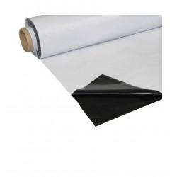 Plastico reflectante blanco/negro (2 m x 100 m) gru
