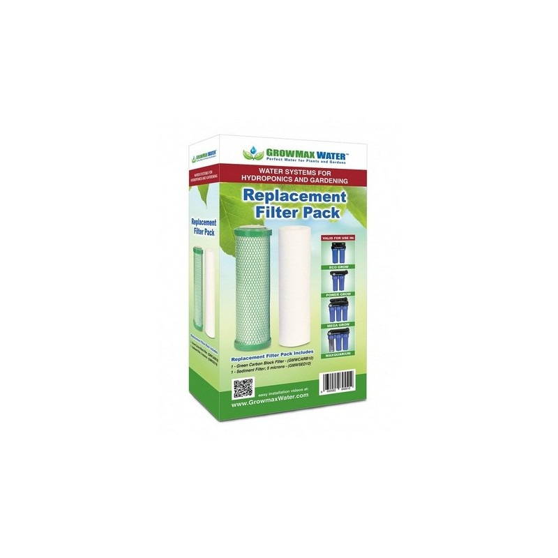 "Pack filtros de recambio 10"": Valido para eco Grow, Power Grow, Mega grow y Maxquarium"