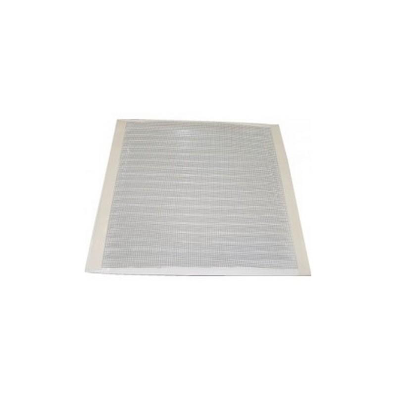 Rejilla aluminio blanca con mosquitera 17x17 cm